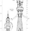 2010年09月20日時点  東京タワー:332.6m  東京スカイツリー:471.0m(推定)
